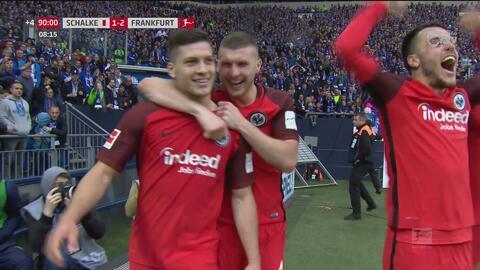 Luka Jovic anota en el tiempo de descuento y le da los 3 puntos al Frankfurt