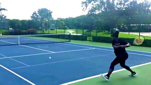 Serena Williams no puede dejar de jugar al tenis ni con seis meses de embarazo