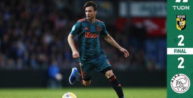 El Ajax empató sin Edson Álvarez en la cancha