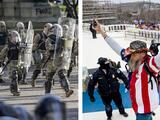 El Capitolio y la Casa Blanca: dos protestas en edificios del gobierno con resultados muy diferentes