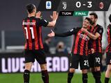 Milan golea la Juventus en el Derby dei Campioni y la pone fuera de Champions