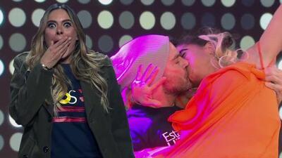 No te pierdas el beso que le robó Mela a Julián Gil que dejó boquiabierta a Galilea Montijo (literal)