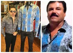 Larry le copia la moda a Joaquín El Chapo Guzmán