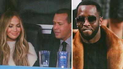 Qué elegancia: Jennifer Lopez y Alex Rodríguez dicen presente en el Super Bowl, al igual que su ex novio Puff Daddy
