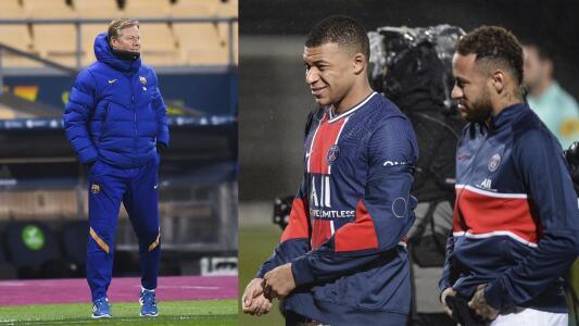¡Equipazo! Koeman quiere a Neymar y a Mbappé en el Barcelona
