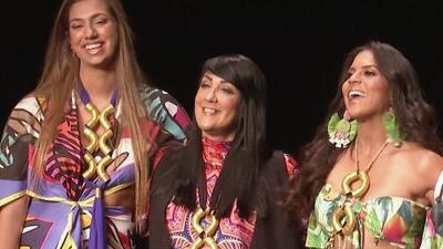 Francisca se sintió feliz y agradecida de desfilar en el Miami Fashion Week junto a la hija de Lili Estefan