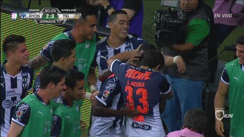Avilés Hurtado marca el 2-0 de Rayados sobre Tigres