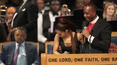 Bishop apologizes for touching Ariana Grande at Aretha Franklin funeral