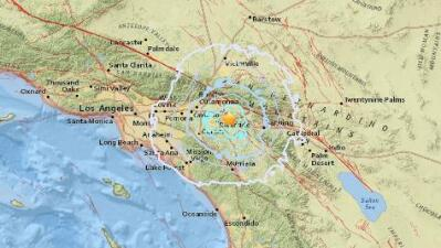 Un temblor de magnitud 3.7 sacude los condados de Riverside y San Bernardino