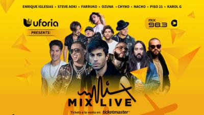 Compra ya tus boletos para el concierto Mix Live de Uforia Music, en Miami