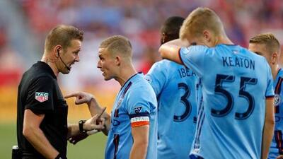"""NYCFC decepcionado con los árbitros debido a una decisión que """"cambió el partido"""""""