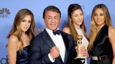 Las hijas de Sylvester Stallone serán Miss Globo de Oro
