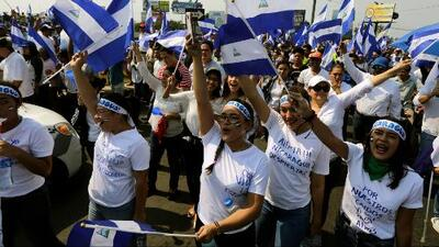 Nicaragüenses en Miami salen a las calles a protestar y pedir la salida de Daniel Ortega de la presidencia de ese país
