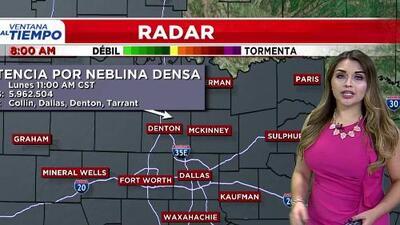 'Dallas en un Minuto': nubes y niebla densa, el pronóstico del clima para este lunes