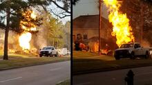 Reportan cinco personas heridas en incendio al noroeste de Houston