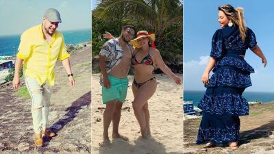 Chiquis en candente bikini, disfruta de su luna de miel en Puerto Rico con Lorenzo