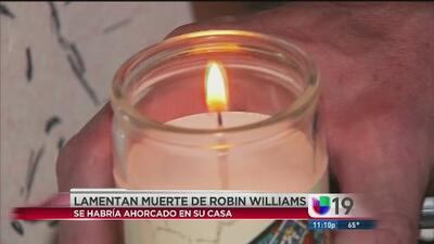 Fanáticos homenajean a Robin Williams