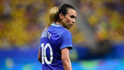 La más grande no estará con Brasil: Marta no se recuperó de una lesión muscular en la pierna izquierda