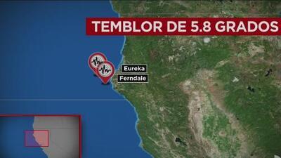 La tierra se estremece en California: Registran sismos en el norte y sur del estado