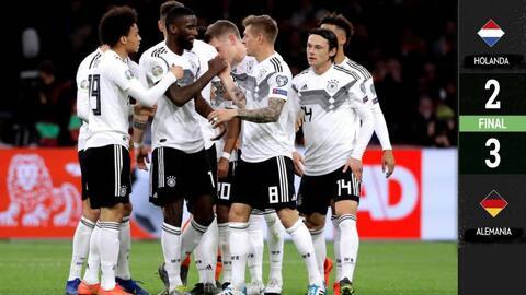 Holanda 2-3 Alemania - GOLES Y RESUMEN  - GRUPO C - ELIMINATORIAS - Eurocopa