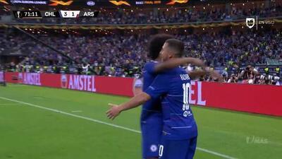 ¡GOOOL! Eden Hazard anota para Chelsea