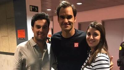 'Checo' Pérez posa junto a Federer y destaca su grandeza