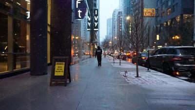 Más nieve, más llovizna y más frío para el resto de la semana en el norte de Illinois