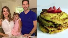 El esposo de Carolina Sarassa cocinó las riquísimas Arepas de Choclo que le encantan a su pequeña Chloé