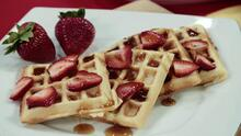 Waffle belga con fresas