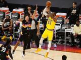 Davis y LeBron rescatan a los Lakers; Nets y Mavericks suman