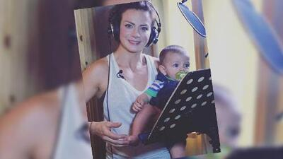 El bebé de Silvia Navarro es igualito a ella y ya toca la batería