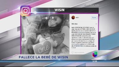 Solidaridad con Wisin tras la muerte de su hija de un mes de nacida