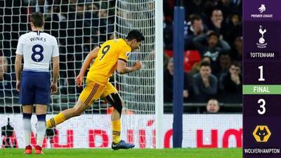 Shock en la Premier: Raúl Jiménez y Wolverhampton humillaron al súper Tottenham