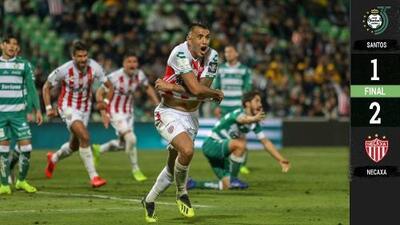 Santos Laguna 1-2 Necaxa - GOLES Y RESUMEN - Jornada 11 - Liga MX