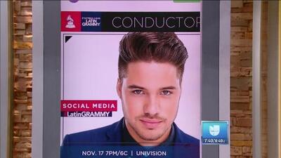 William Valdes será el presentador de redes sociales en Latin GRAMMY