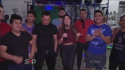 La banda Trakalosa de Monterrey sudó la gota gorda en su clase de zumba