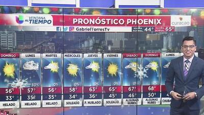 Temperaturas bajas para este domingo en Arizona