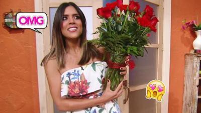 Francisca Lachapel recibió un hermoso ramo de rosas, ¿quién será el misterioso galán?