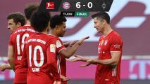 Bayern estrena título con media docena para el Monchengladbach