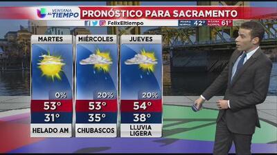 Se registran temperaturas congelantes al norte de California