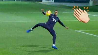 Jeison Murillo se estrenó con este golazo de media volea en su llegada al Barcelona