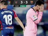 Barcelona deja escapar la victoria ante Levante y casi se despide de LaLiga