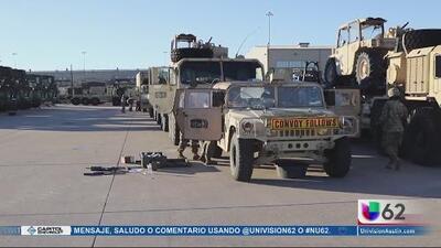 Más de 5,000 tropas llegan a la frontera para ayudar con la seguridad y protección
