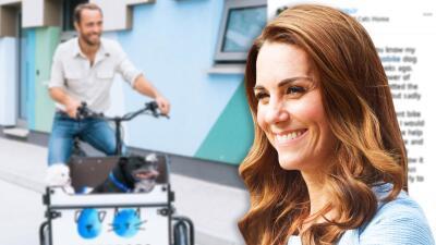 Sobrinos caninos de Kate Middleton pueden estar tranquilos: hermano de la duquesa recuperó su bicicleta perruna