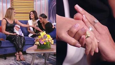 Francisca le tomó la mano a JLo para ver de cerca (y comparar con el de ella) su anillo de compromiso