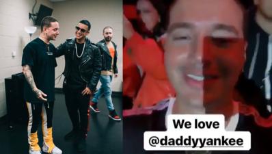"""""""¡Te amo!"""", J Balvin se emociona con Daddy Yankee (y Bad Bunny ni te cuento)"""