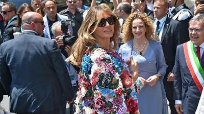 La chaqueta de 51,500 dólares que Melania Trump estrenó en Sicilia