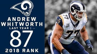 #87 Andrew Whitworth (OT, Rams) | Top 100 Jugadores NFL 2018