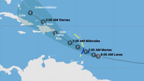 En vivo: Trayectoria actualizada de la tormenta tropical Dorian
