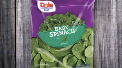 Retiran paquetes de espinacas tiernas de la marca Dole en Nueva York y Nueva Jersey por riesgo de salmonela